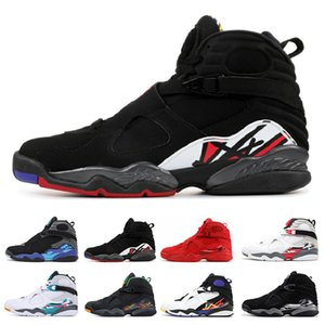 2019 Valentines Day Aqua White Black 8 8s Men Basketball Shoes Chrome Countdown Pack 3 PEAT VIII Mens Trainers Sports Sneaker size 7-13