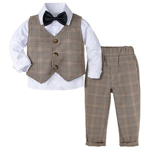 Boys Formal Suit Set Toddler wedding Party Outfit Kids Easter Blazer Infant Cute Gentleman Tuxedo Birthday Gift Photo Props