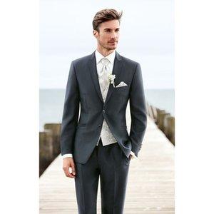 TPSAADE Mens Formal Business 2 Piece Suit Groom Tuxedos Slim Fit Peak Lapel Wedding Men Suit Two Button Jacket Pants 2020 Blazer