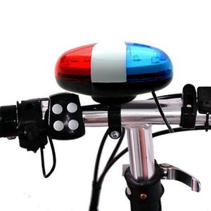 2019 Bicycle Accessories For a Bike Flashlight Headlamp 6 LED 4 Sounds Horn Bell Ring Police Car Light Trumpet For Bike Bicycle