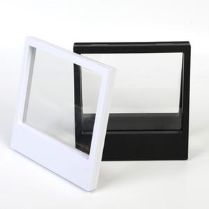 180x230x20mm PET transparente titular de la caja de membrana Caja de exhibición flotante Pendiente Anillo de gemas Joyería Suspensión Caja de embalaje