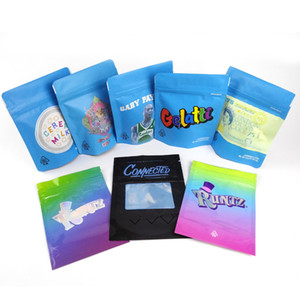 Сухая трава цветок Упаковка Сумка посмеивается BAG Connected синего печенье Сумка Runtz Майларовых Сумки Бесплатной доставка