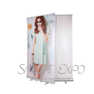 Economic Promotional Roll up Banner Stand Trade Show Retractable Roll up Banner Stand with Printing and Portable Carry Bag