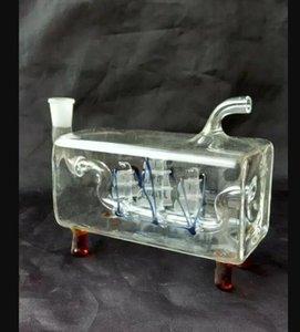 Горизонтальные цветные трубки парусной кальян стеклянные бонги аксессуары, стеклянные курительные трубки красочные мини-мульти-цвета Ручной Трубы Лучший Ложка Glas