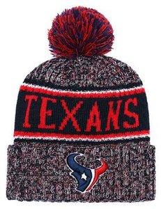 Sombrero de punto con dobladillo y gorro de cráneo de Pom Winer, gorro de Houston con gorro lateral y frio