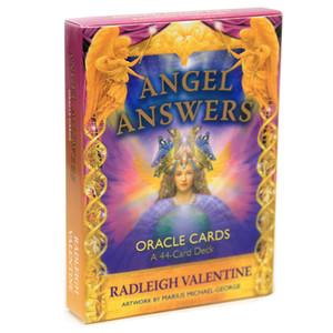 O Anjo Respostas cartões de Oracle A plataforma 44-Card e E-Guia Adivinhação Livro Board Game Toy Cartomancia