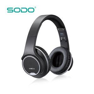 Orijinal SODO MH1 Bluetooth Kulaklık Hoparlör 2 1 Büküm-out kablosuz Kulaklık NFC mikrofon ile telefonlar için
