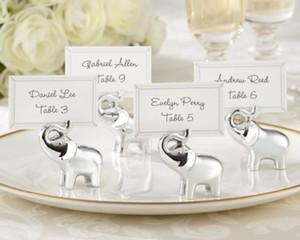 사랑 실버 마침 코끼리 장소 카드 홀더 베이비 샤워의 10PCS 행운의 웨딩 파티 테이블 장식 용품 호의