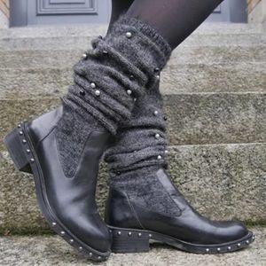 Women Boots Classic Tassel Sock Boots Sexy Female Autumn Winter Lady Flat Heels Comfortable Shoes Women Botas