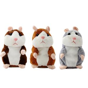 Симпатичные 16см животных мультфильм Talking Hamster Плюшевые игрушки Kawaii говорить Говоря Звук Запись Hamster Говоря Игрушка Дети Рождественский подарок RRA2255
