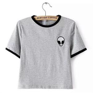 Harajuku Nieuwe modalità T-shirt Donne Gedrukt Tops Wit Tee Zomer Stijl T-shirt Plus Size Vrouw Casual T-shirt