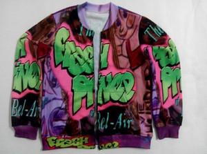 Real American TAGLIA Willy, il principe personalizzato Creare la tua stampa 3D sublimazione Zipper Up Jacket plus size
