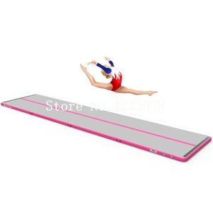 Ücretsiz Kargo 5 * 1 * 0.1 m Pembe Şişme Yuvarlanan Jimnastik Jimnastik Hava parça için Yoga Eğitim Şişme Hava takla Parça