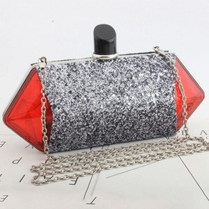 las mujeres caramelo de la manera diseñador-bag acrílico bolsas de mensajero bolso de patchwork perfume clara bolso de noche partido del monedero del embrague brillante - L5006