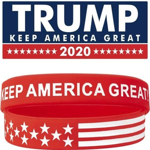 20 Style TRUMP Make America Great Again Letter Silicone Wristband Rubber Bracelet Donald Trump Supporters Wristband Bracelets MMA190909