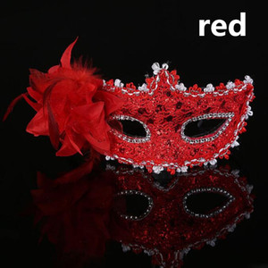Moda Sexy Venetian Lace Feather Ball Masquerade Mask aillette Flower Party Máscaras de ojos masque venitien al por mayor