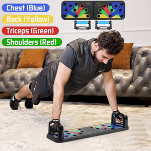 Pliable bâtiment multifonctionnel du corps Push Up Board Home Gym Fitness Sport Equipment abdominale Plate Muscle Y200506