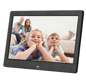10 بوصة شاشة LED الخلفية HD 1024 * 600 إطار الصورة الرقمية الالكترونية ألبوم صورة اغاني فيلم كامل وظيفة هدية عيد الميلاد