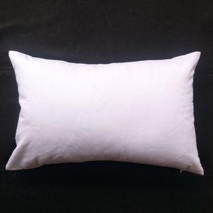 DIY 화면 DIY 페인트 / 인쇄 순면 흰색 쿠션 커버 1 개 11x17in 200GSM 두께의 빈 흰색 목화 능 직물 목재 베개 커버
