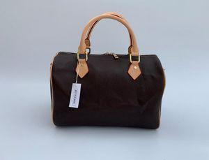 2021 Europa Art und Weise 30CM Frauen Taschen Leder berühmte Marke Design Handtasche Frauenkurierbeutel mit Schloss 41526