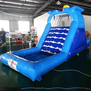Toboggan aquatique gonflable sport de loisirs aquatiques avec piscine et ventilateur livraison gratuite