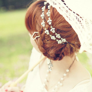 Factory wholesale crystal hair jewelry high quality hairband for women