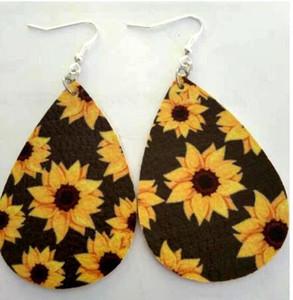 Pendientes de cuero de imitación de cuero ligero de la hoja Pendientes de lágrima cuelgan hecha a mano por muchachas de las mujeres