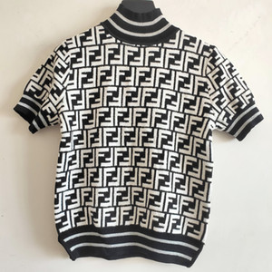 Designershirt Frauen Mode Top Tees Sommer-Herbst-Damen Shirts Strick FF T-Shirts Casual Tops Frauen New Shirts Größe S-L 2020787K