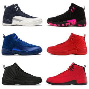 Migliori 12 12s Bulls Jumpman uomo Scarpe da pallacanestro PRM DEEP ROYAL College Navy bianco nero Gym rosso designer sneakers sportive sneakers Norther