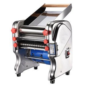 LEWIAOElectric Stainless steel Pasta Maker Automatic Noodle Pressing Machine Commercial Spaghetti Dough Cutter Dumpling Roller EU
