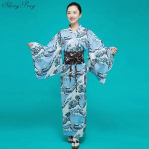Quimonos japonês tradicional japonês roupas quimono elegância mulheres haori obi gueixa quimono robe yukata V1466
