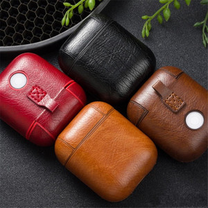 4 cores mini capa protetora de couro manga capa case armazenamento fone de ouvido portátil para apple airpods