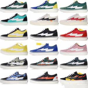 New Revenge x tempestade por Homens Mulheres Esporte lona durável sapatos ao ar livre Old Skool Skateboarding Sneakers Trending Trainers Casual