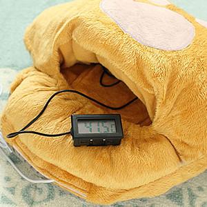 1PC / lotv Pés bonitos dos desenhos animados Big Quente Chinelos USB pé quente sapatos Computador PC Electric Heat chinelo macio e confortável 461350