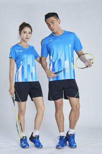 سوريون EXX التجفيف السريع للتنفس الريشة ارتداء ملابس قصيرة الأكمام طية صدر السترة الرقبة تي شيرت السراويل تشغيل الجدول ملابس التنس 6035 + 7009 الأزرق