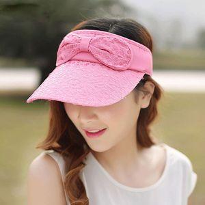 Yaz Kadın Güneş Şapkası Açık Ayarlanabilir Boş Üst Beyzbol şapkası Moda Letter Nakış Casual Siperlik Plaj Lady toptan Caps