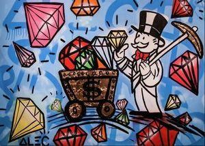 Alec Монополия картина маслом на холсте Urban Art Decor Wall Diamonds Wall Art Home Decor расписанную HD Печать 191015