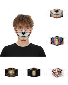 Masque Halloween visage écharpe Joker Bandeau Cagoules Crâne mascarade Masques pour Ski Moto Cyclisme Pêche Sports de plein air
