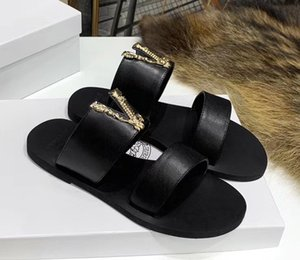 new fashion designers design woman's and men slippers High Leather woman's slippers European and american style with the packing