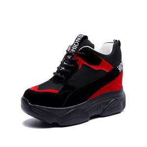 حار بيع النساء أحذية رياضية أزياء زيادة منصة الأحذية امرأة عارضة الأحذية الإناث chaussure