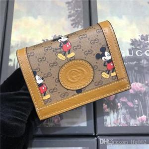 Heiße Frauen Portemonnaie Designer Luxus-Tasche Geldbörse aus echtem Leder-Kartenhalter Stern Luft 7264991 602534 Top-Qualität YS Größe 11x8.5x3cm mit Box