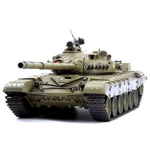 01:16 russo T-72 Main Battle Tank 2.4G telecomando modello serbatoio militare con il suono di fumo Shooting Effect - Basic Edition