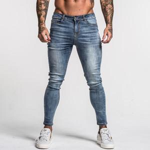 Skinny jeans scoloriti Hip Blu Medio Vita Classic Hop Stretch pantaloni di cotone Gingtto Uomo confortevole Dropshipping alimentazione zm46 Y200116