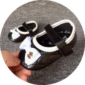 Freie Verschiffen-Baby-Mädchen-weiche Sohle Krippe Schuhe PU-Leder-Anti-Rutsch-Schuhe Kleinkind-Turnschuhe 0-18M