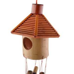 Shiping gratuito Hexagon Pavilion Bamboo Moon Pendant Wind Chime Campanella a vento Home Office School Hotel Decorations