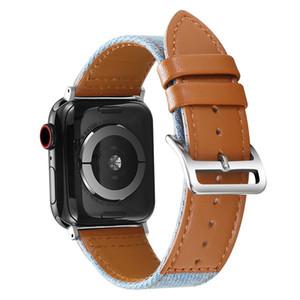 Нейлон Холст из натуральной кожи Часы группы для серии Apple Наблюдать за 1 2 3 4 5 Ремень для Iwtch 38 40 42 44mm Bands Браслет аксессуары
