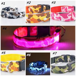 Hundehalsbänder Pet Camouflage Traktion Ring LED Licht Kragen Hund Flash Luminous Haustier Kragen Kragen Zubehör T2I5689