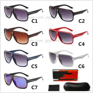 브랜드 시리즈 새로운 C19 패션 선글라스 자동차 디자이너 UV400 안경 천 EVA 지퍼 상자 전체 패키지