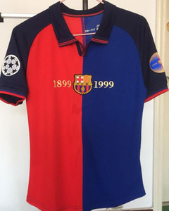 98 99 Retro Maillot de football MESSI SUAREZ Maillot de foot maillot de corps Camisas Dembele INIESTA 100 edition Kit Maillot de foot