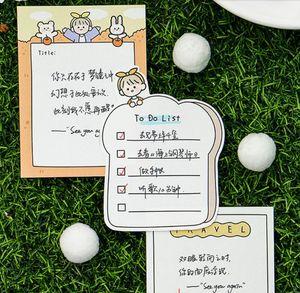 4 disegni 30 pezzi Viaggi Fun Nota Memo Pad Kawaii cancelleria Note Portable Notepad Scuola di forniture per ufficio Papeleria